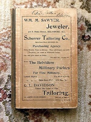 1896 BELVIDERE, ILLINOIS CITY DIRECTORY - EVERY RESIDENT S NAME ADDRESS TRADE - $125.00