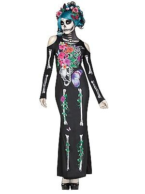 Beautiful Bones Day Of The Dead Skeleton Adult Costume](Day Of Dead Costumes)