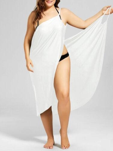 Women Swimwear Scarf Beach Cover Up Wrap Sarong Sling Skirt Maxi Dress Plus Size