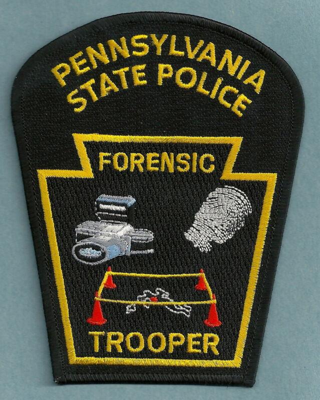 PENNSYLVANIA STATE TROOPER CSI FORENSICS CRIME SCENE INVESTIGATOR SHOULDER PATCH