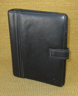 Classic 1.25 Rings Black Sim. Leather Franklin Covey Open Plannerbinder