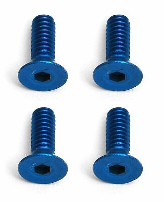 Team Associated - Factory Team Blue Aluminum Screws, 2x6mm FHCS Factory Team Aluminum Screw