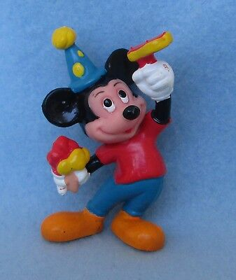 MICKEY MOUSE PVC FIGURE, New Years Eve, Party, Disney, Applause, Cake Topper