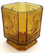 Art Deco Amber Glass Vase