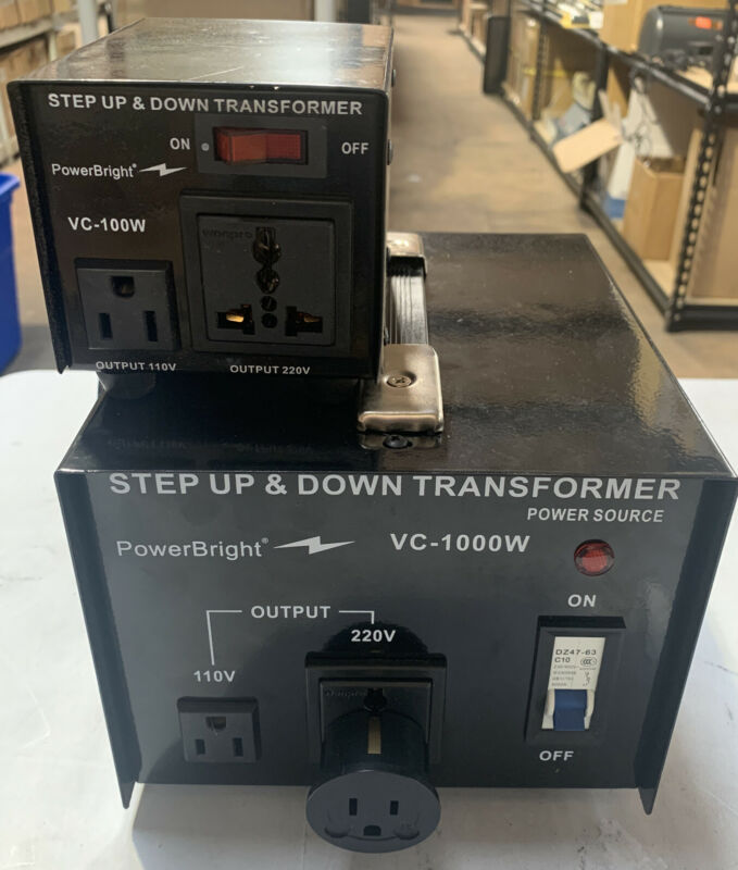 PowerBright 1000W Voltage Transformer 1000 Watt Step Up/Down with 100W addition