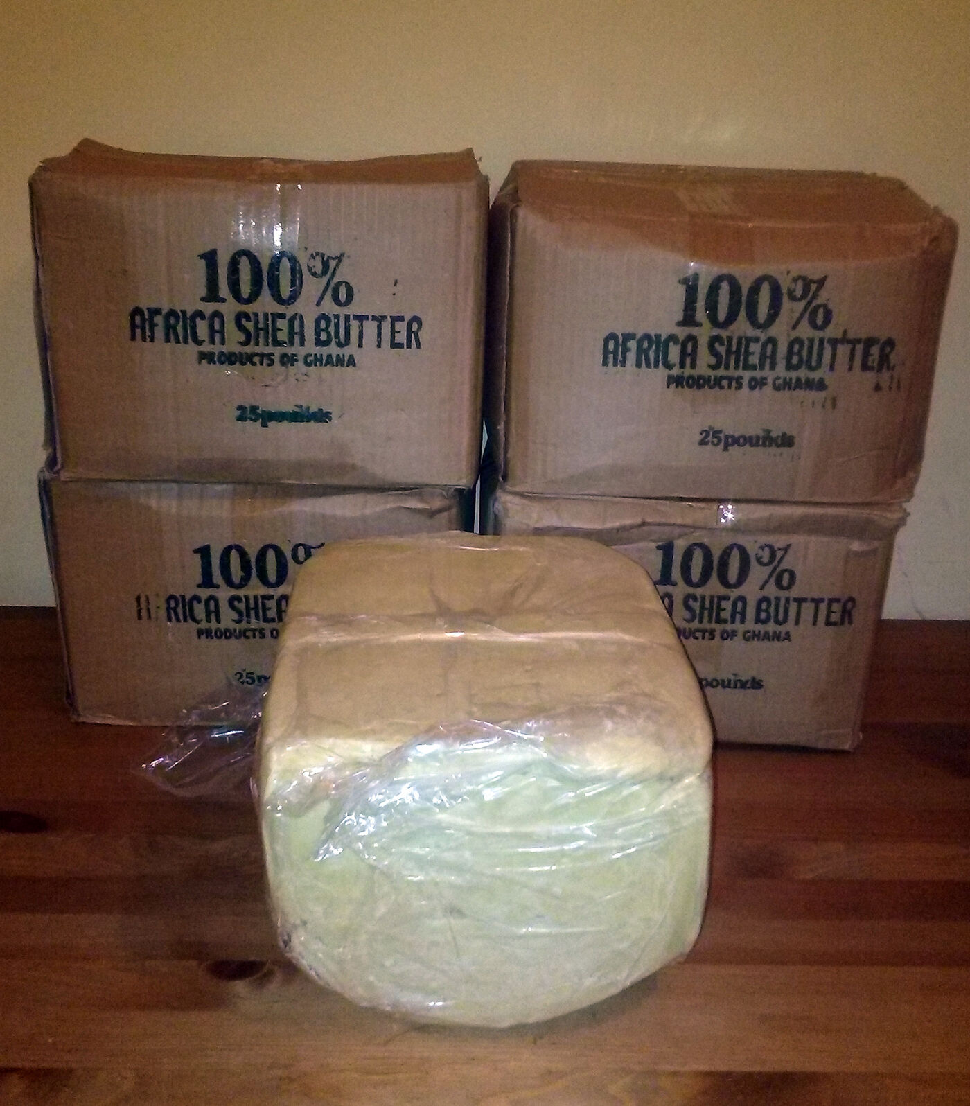 raw african shea butter unrefined organic white