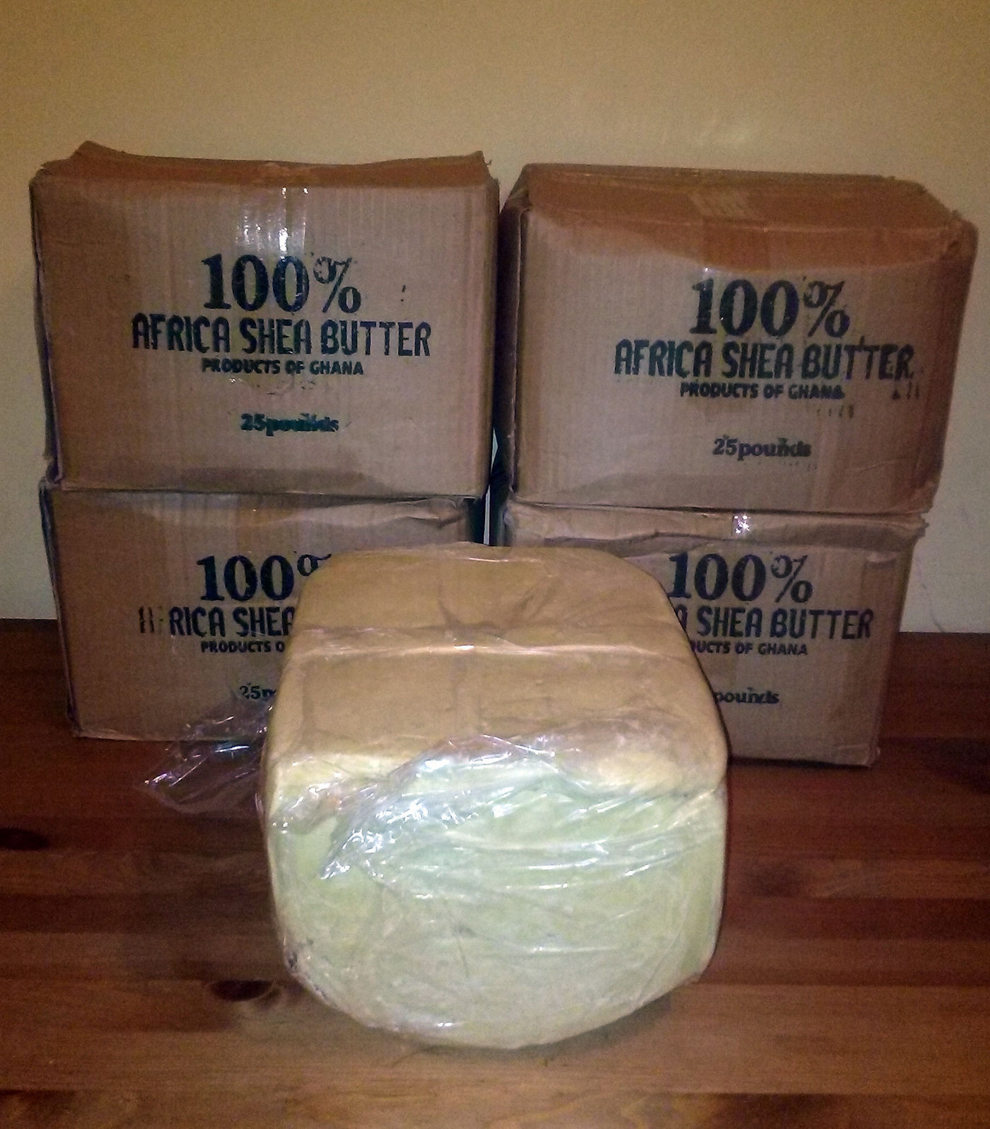 5 LBS Raw SHEA BUTTER Unrefined Organic White Ivory Pure Pre