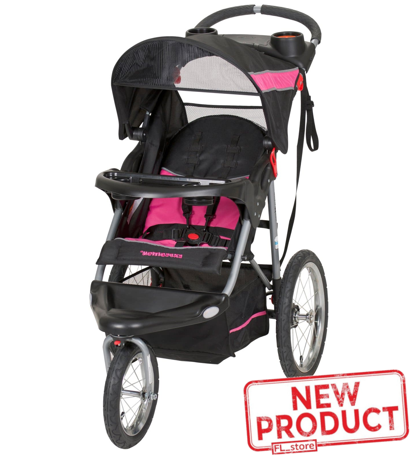 Baby Jogging Stroller Toddler Infant Kids Girls Outdoor Trav