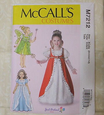 McCall's M 7212 Girl's Storybook Fairy, Queen of Hearts Gown Pattern KIDS 3-8 - Queen Of Hearts Costume Pattern