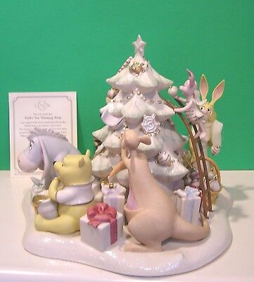 Tree Trimming Party (LENOX Disney POOH'S TREE TRIMMING PARTY sculpture NEW in BOX with)