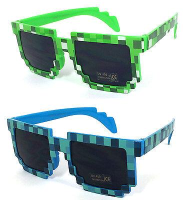 Pixel Sunglasses 8 bit Geek Nerd Eye Glasses Fashion Halloween Party Accessory - Pixel Nerd Glasses