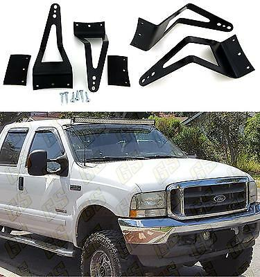 "50 to 52"" Light Bar Mount Brackets for 99-15 Ford F350-250 Super Duty Trucks UN5"
