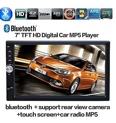 Double 2 Din 7'' HD Touch Screen Car Stereo Radio Bluetooth FM/MP5/MP3/USB/AUX