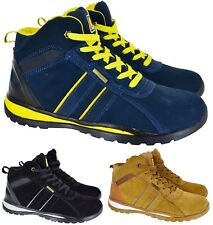 MENS LIGHTWEIGHT SAFETY STEEL TOE CAP WORK TRAINER HI TOP TRAINERS SHOES SZ 7-11