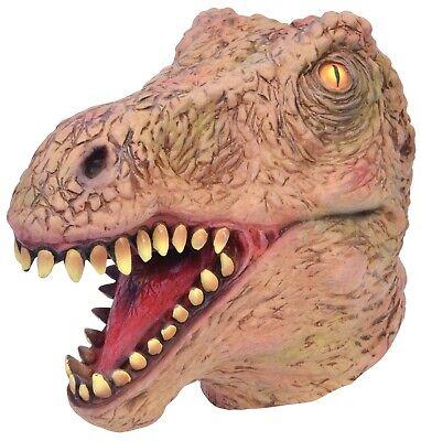 T Rex Costume Realistic (Adults Mens Realistic Jurassic Dinosaur T Rex Mask Fancy Dress Costume)