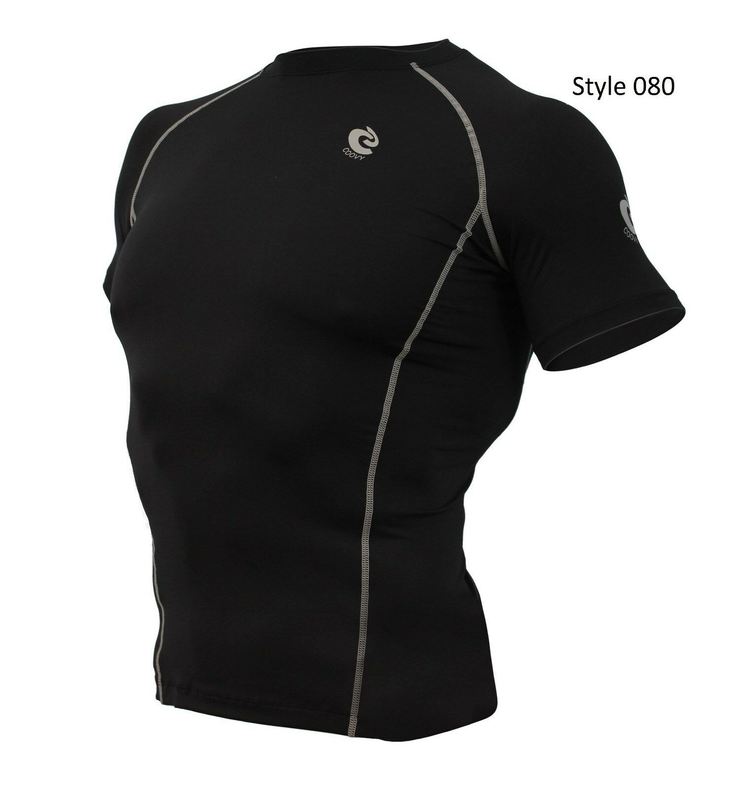 080 Black w/light reflect back Short Sleeve Shirt