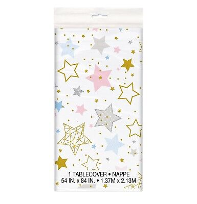 TWINKLE TWINKLE LITTLE STAR Birthday Party Baby Shower 54X84 Plastic TABLECOVER  (Twinkle Birthday)