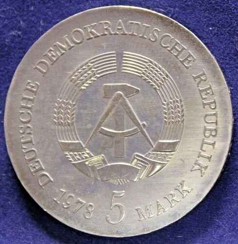 5 MARK 1978 FRIEDRICH G. KLOPSTOCK DDR COIN