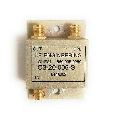 Ife C3-20-006-s 2w Sma Rf Microwave Directional Coupler 20mhz-1.2 Ghz 50ohm 20db