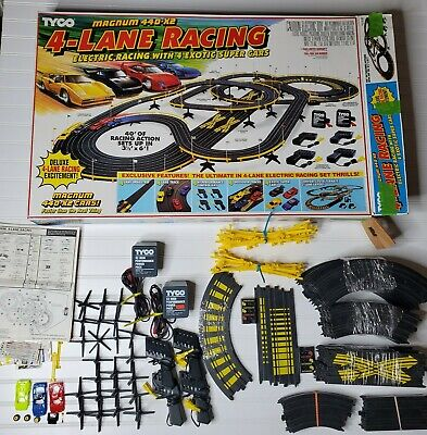 TYCO 4 LANE RACING SLOT CAR TRACK IN BOX MAGNUM 440 X2 RACETRACK #6686 NO CARS for sale  Shipping to Canada
