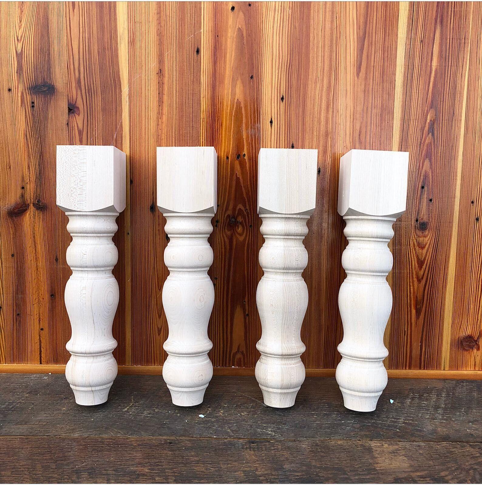 "Chunky Farmhouse Bench Legs - Maple - Made in NC - 3.5"" x 3."