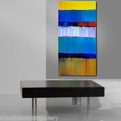ABSTRACT ORIGINAL Large Vertical 24X48 Modern impasto Acrylic Art By Thomas John