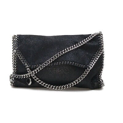 Stella Mccartney Shoulder Bag Falabella Black Suede Leather 2201690