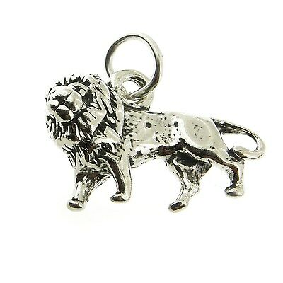 925 Sterling Silver African Lion Charm Made in USA