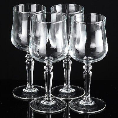 4 Gläser kleinere Weingläser Probiergläser Sherrygläser Süßweingläser France