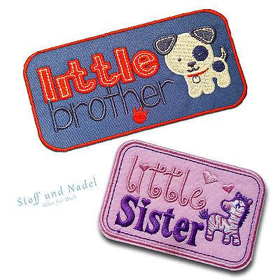Brüder Patch (Aufnäher Bügelbild Aufbügler Patch Baby Kinder Applikation Bruder Schwester)