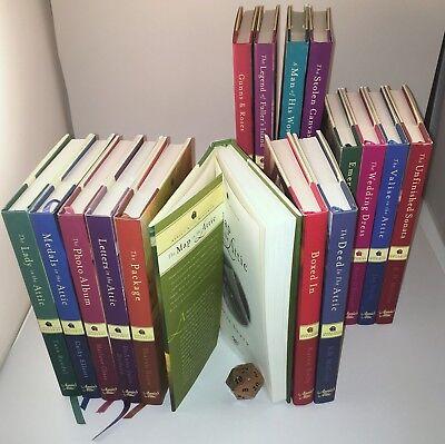 Annie's Attic Cozy Mysteries 16 lot unread Hardcover Books w/dj's & ribbon bookm