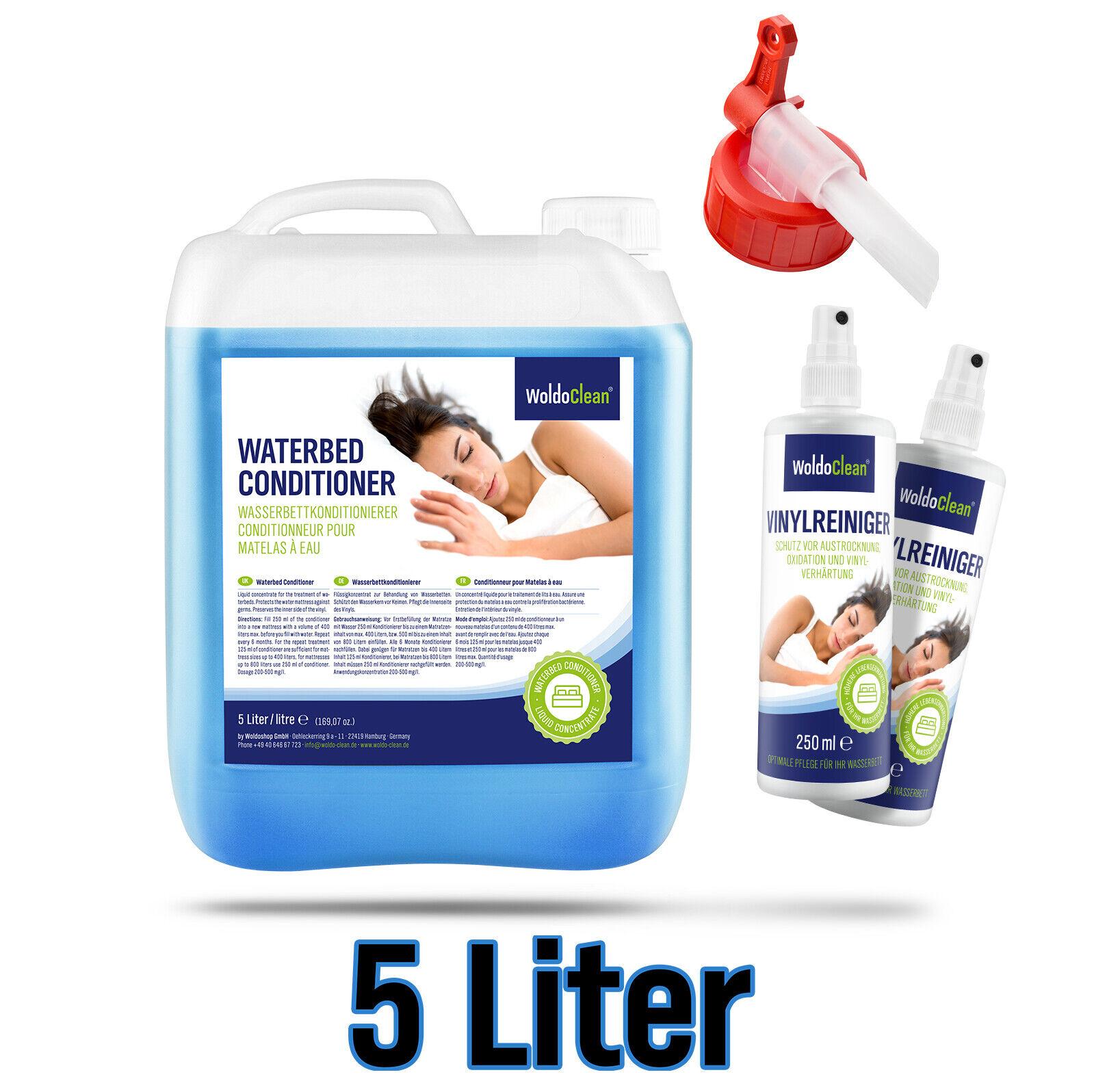 Wasserbett Conditioner 5 Liter Kanister inkl. Ausgießer & 2x 250ml Vinylreiniger