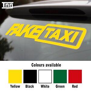 2x-Fake-Taxi-Sticker-Small-Size-Slammed-Ride-Euro-JDM-Drift-Air-Low-Dub-VW-Audi