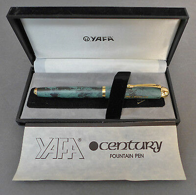 Vintage YAFA Fountain Pen IRIDIUM POINT with Original Case & Instruction booklet