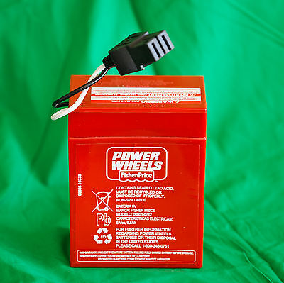 ** NEW ** Power Wheels Super 6 Volt Red Battery (6V) 00801-0712