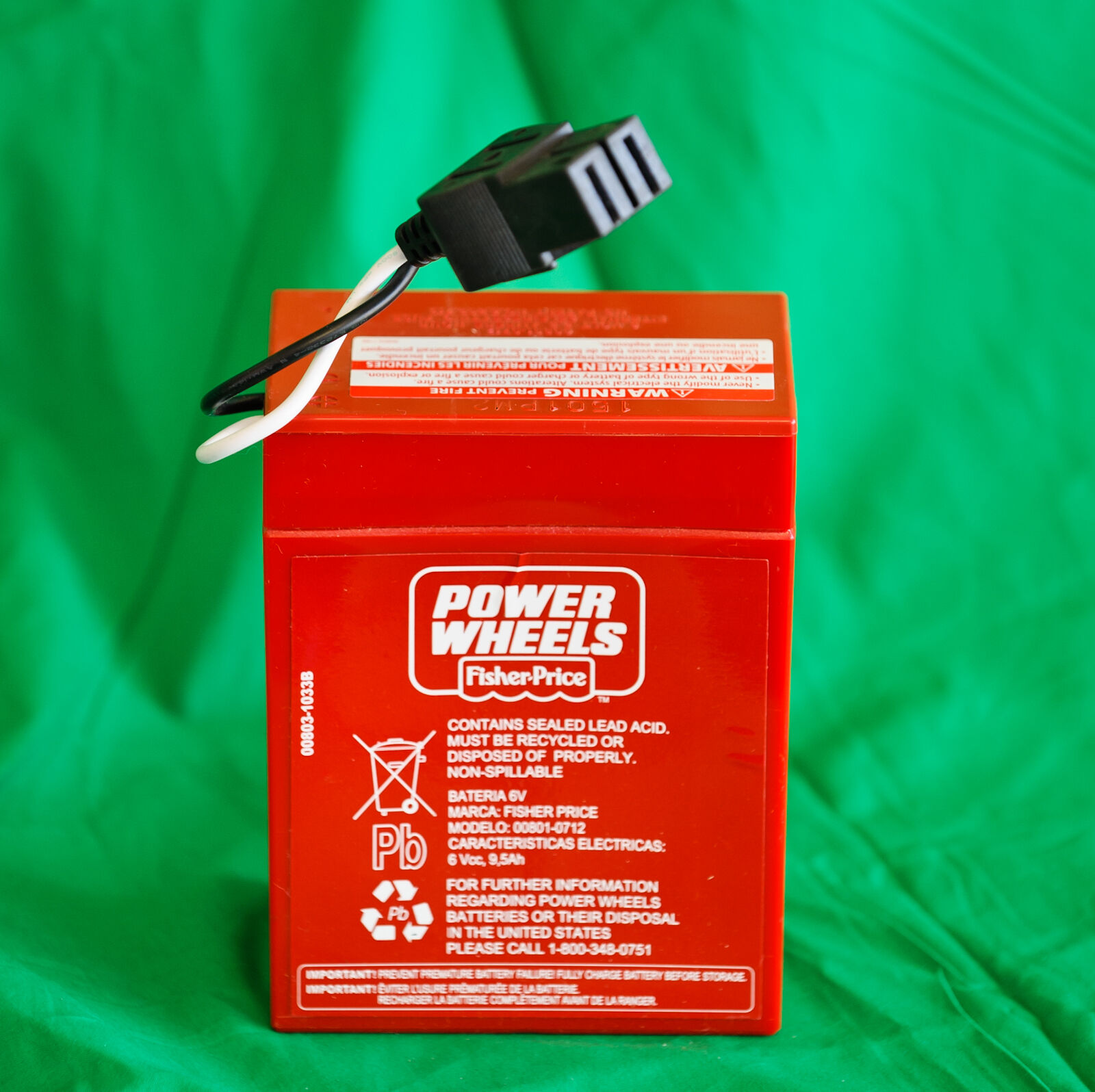 Power Wheels Super 6 Volt Red Battery (6v) 00801-0712
