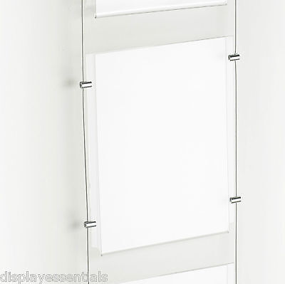 A3 A4 Poster Cable Display Kit Estate Agent Window Wire Fixed Poster Holders