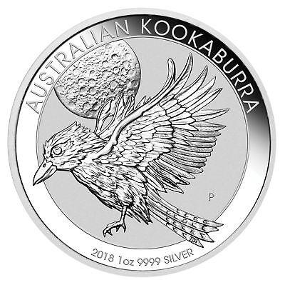 2018  1 1Oz Silver Kookaburra  9999 Fine Bu