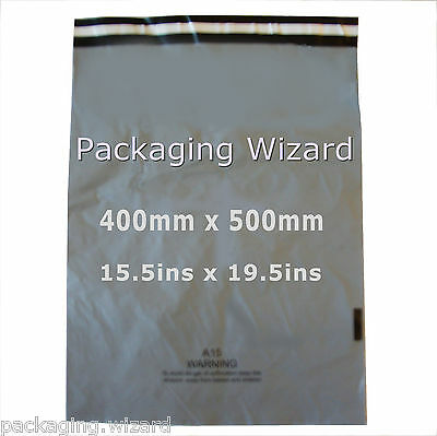 5 x Mailing / Postal Bags ~ Biodegradable ~ Grey ~ 400mm x 500mm ~ Self Seal