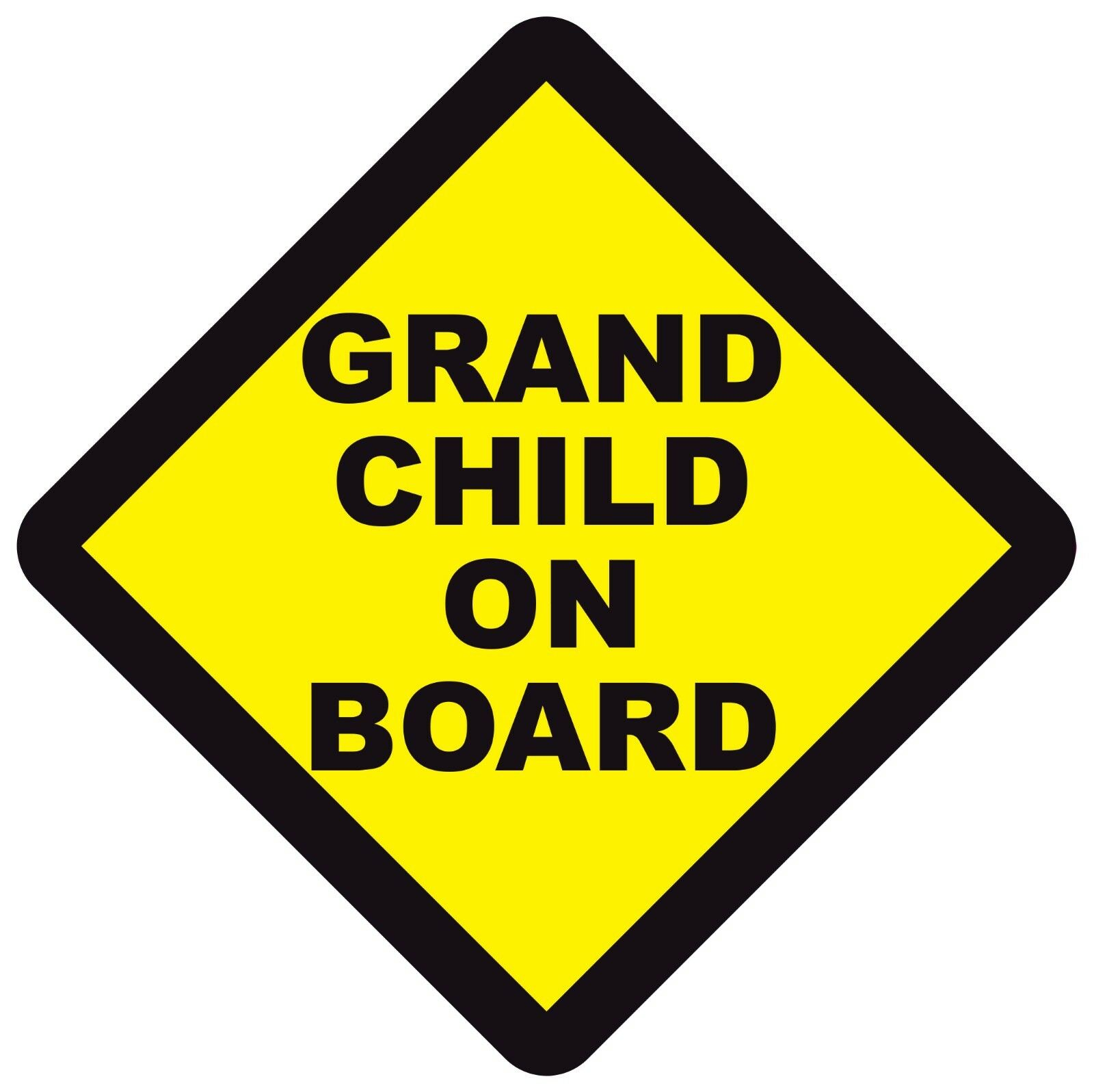 GRAND CHILD ON BOARD WARNING SAFETY SIGN Sticker Vinyl Decal for cars windows