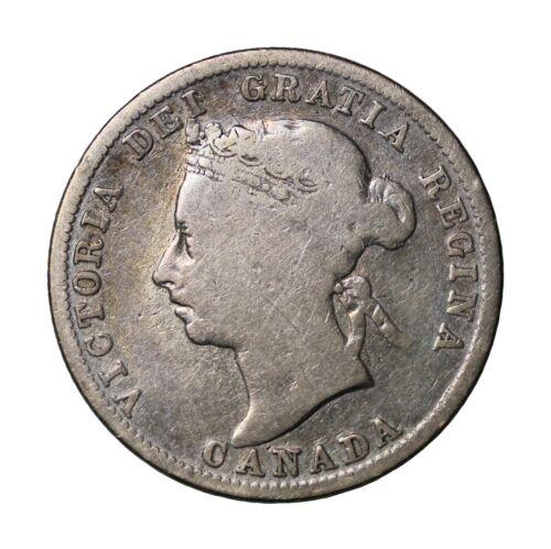 1901 Canada Silver 25 Cents Quarter Queen Victoria British Coin km#5