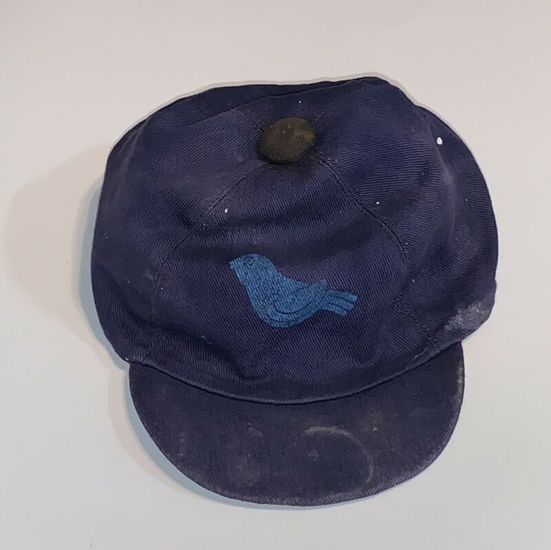 Vintage Blue Bird Campfire Girl Scouts Navy 1950s Hat Cap