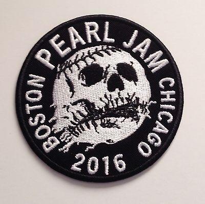 PEARL JAM Skull Baseball PATCH 2016 Fenway Park Wrigley Field Concert