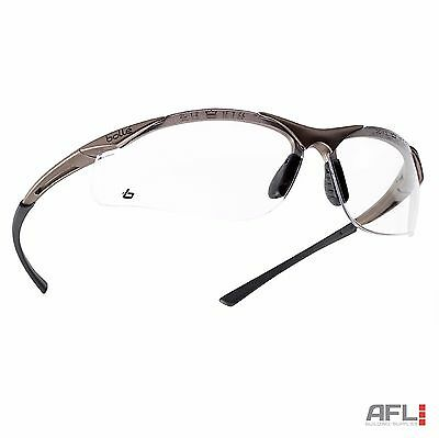 Bolle Contour Anti-Fog Anti-Scratch Safety Spectacles Glasses - Clear Lens