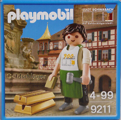 Playmobil Special Promo 9211 Goldschläger Schwabach Exclusiv Sonderfigur NEU NEW
