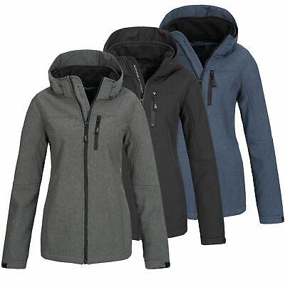 Damen Softshelljacke Jacke Übergangsjacke Regenjacke Freizeitjacke TFF Yrma