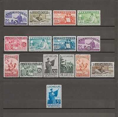 "LUXEMBOURG 1935 ""Intellectuals"" SG 324/38 MINT Cat £865"