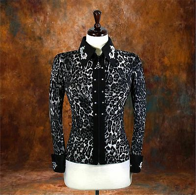 X-LARGE Western Showmanship Pleasure Horsemanship Show Jacket Shirt Rodeo Queen