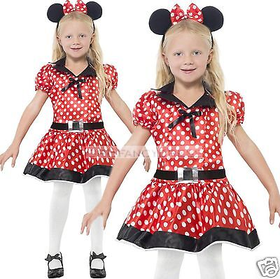 Girls 4-12 yrs Minnie Party TV Cartoon Cute Mouse Fairy Tale Fancy Dress Costume