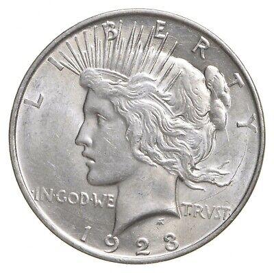 Choice AU/UNC 1923-D Peace Silver Dollar - 90% Silver *506
